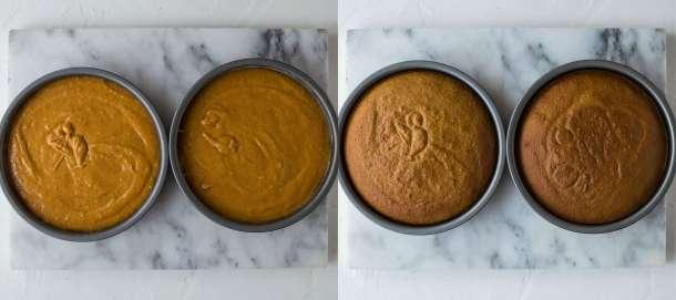 pumpkin layer cake step 2