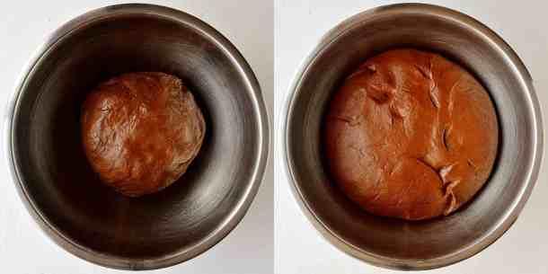 chocolate orange hot cross buns step 3