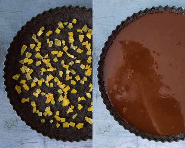 no-bake chocolate tart step 3