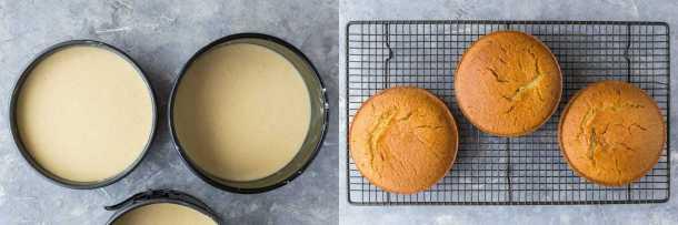 vegan vanilla cake step 2