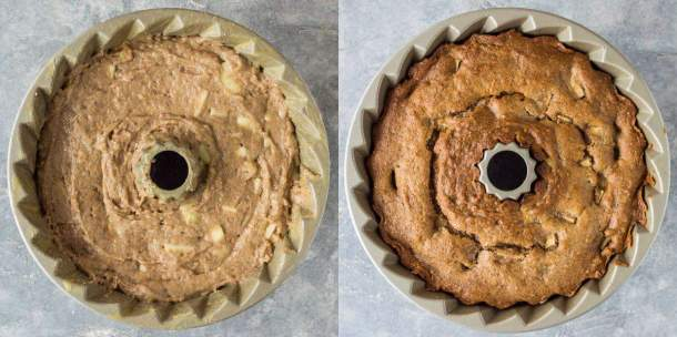 vegan apple bundt cake step 4