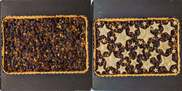 starry mince pie tart step 6 - baking the tart