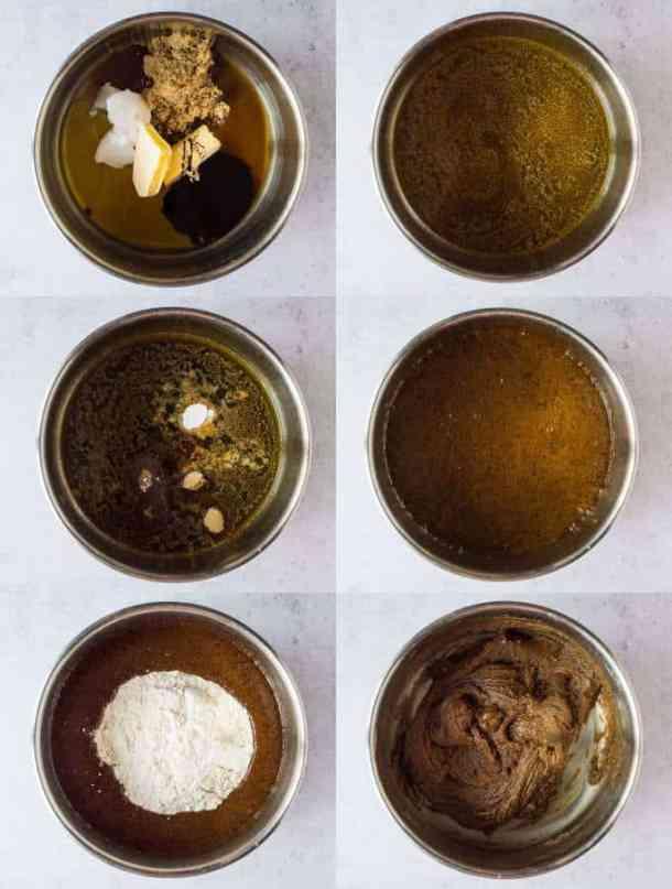 vegan gingerbread cookies step 1 - making the dough