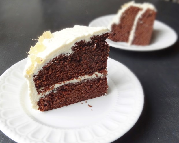 Ginger chocolate fudge cake