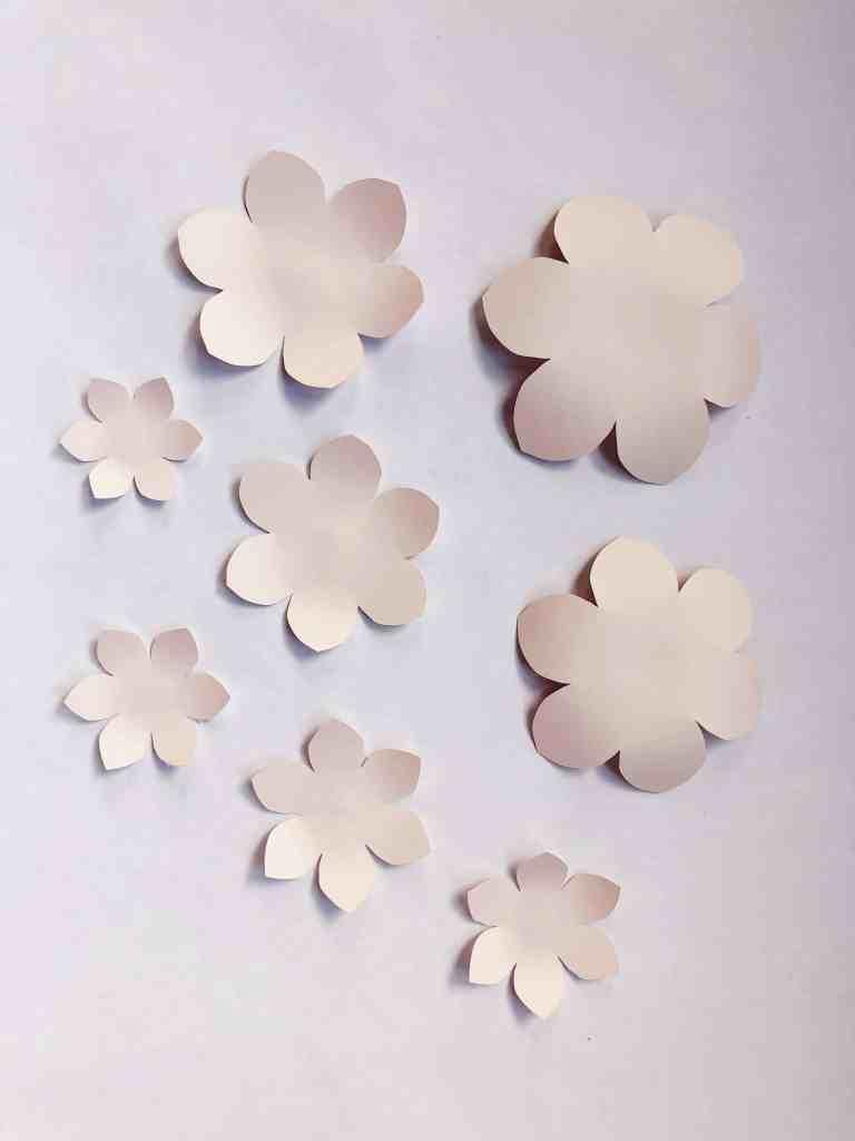 paper camillia flower template