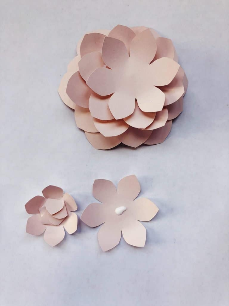 paper camillia flower template