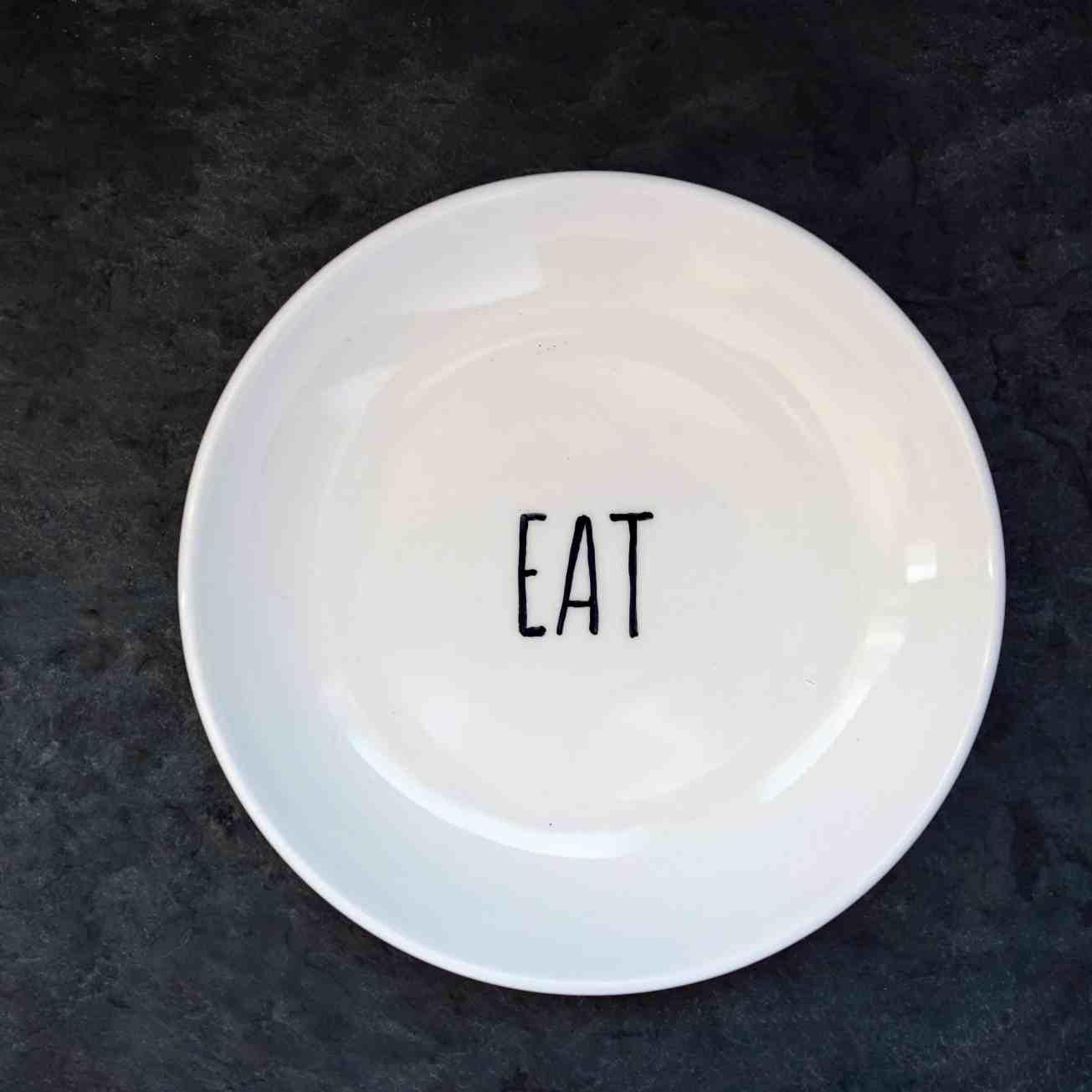 Rae Dunn inspired plate