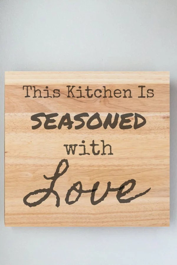 easy kitchen signs