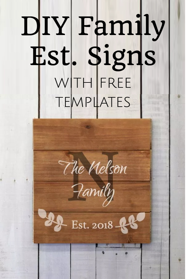 how to make family established sign