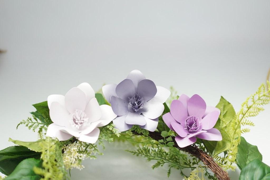 diy paper magnolia template