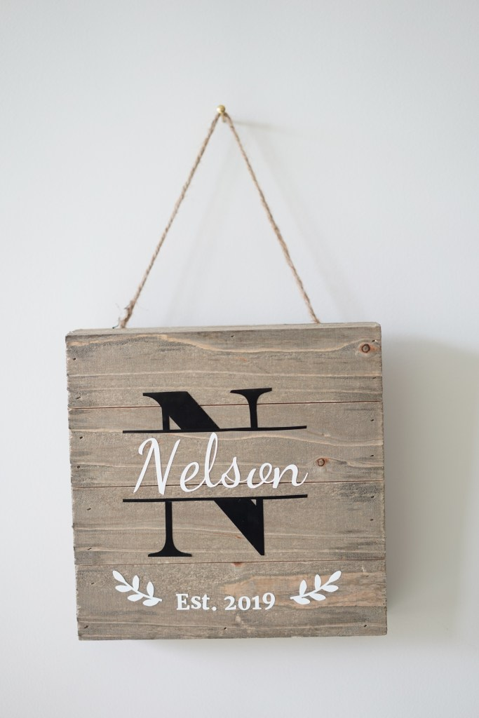 DIY Last Name Sign