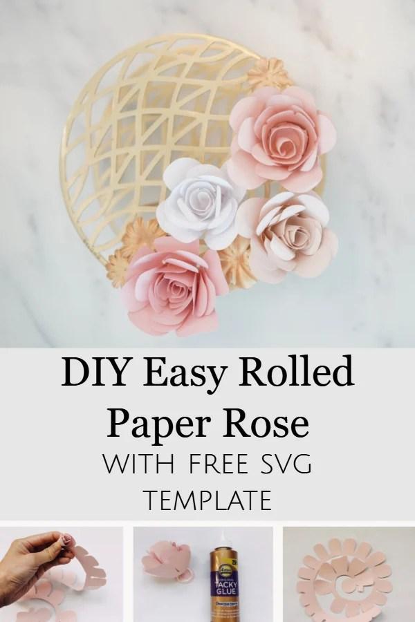Rose Paper Flower Template Svg Best Flower Site