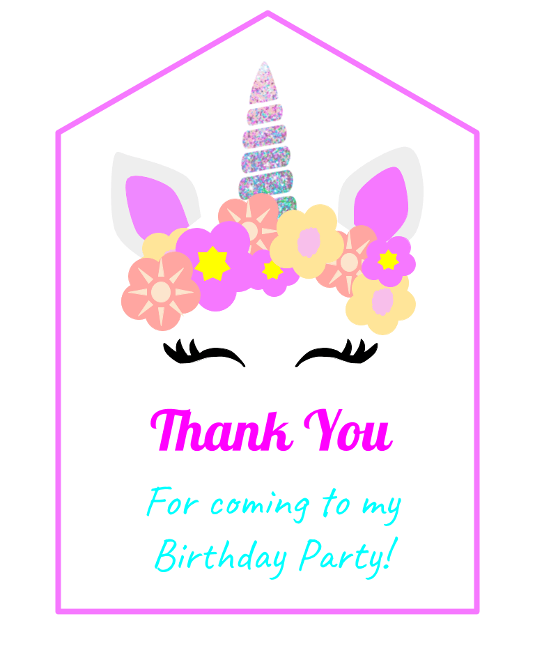 free unicorn birthday party printables and ideas