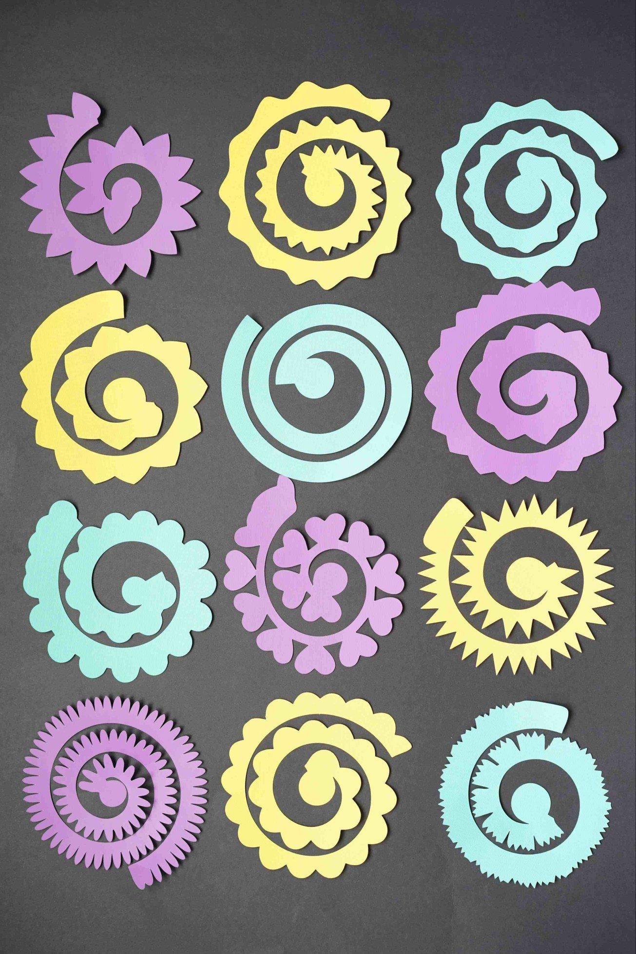paper flower svg free, free rolled flower template