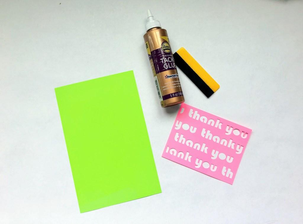 simple cricut card template