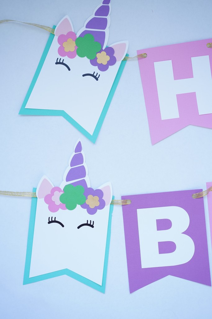 Cricut Unicorn Birthday Party Kit Domestic Heights