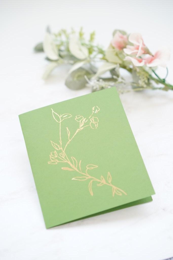 Gilded Cricut card