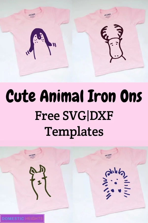 cute animal baby iron on shirt cricut project with free svg