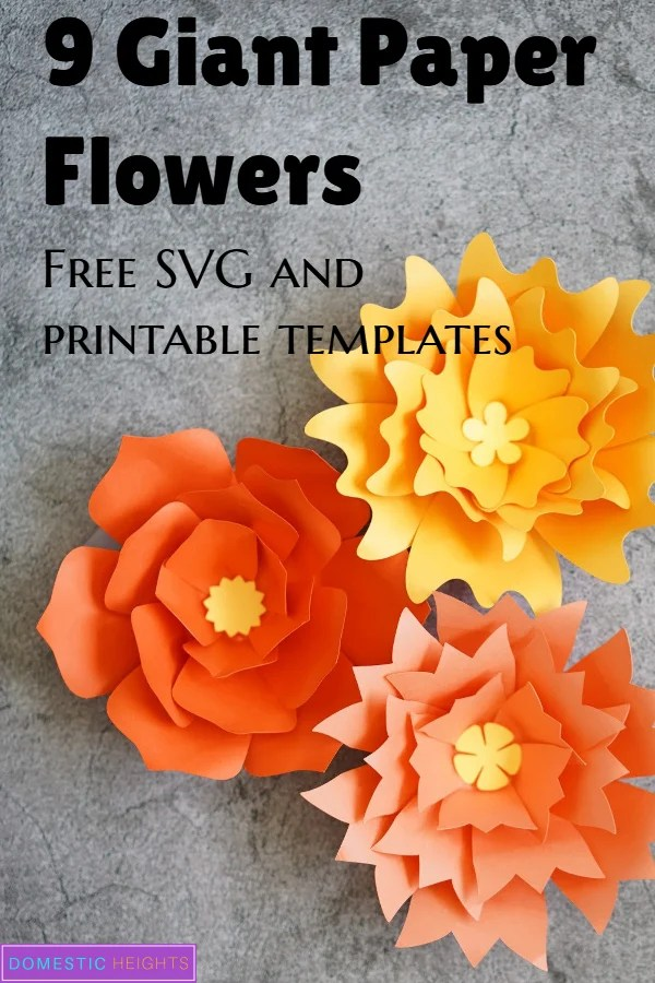 giant paper flower tutorial and free svg and printable templates