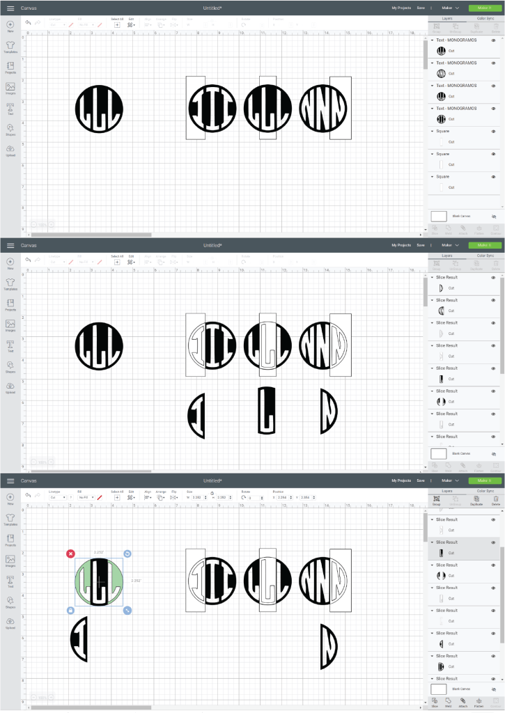 How to Make a Circle Monogram on the Cricut