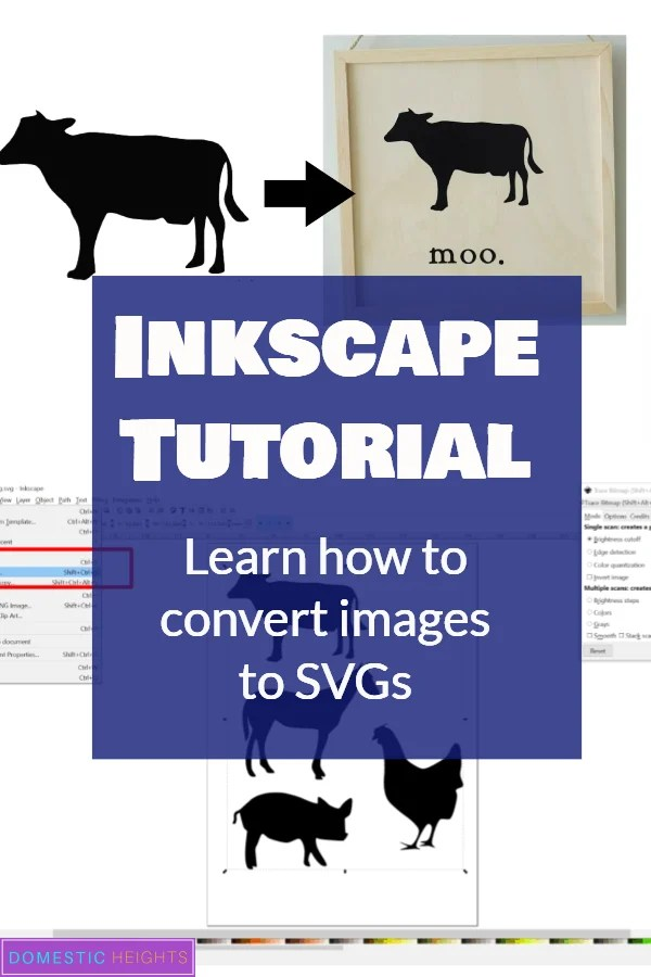 inkscape tutorial for cricut crafters who want to make their own free svgs