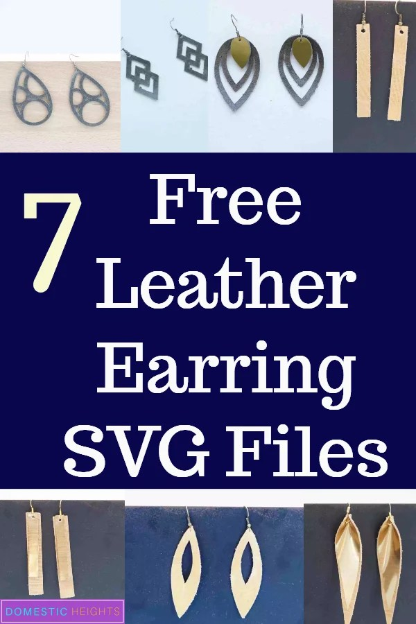 free leather earring svg cut files