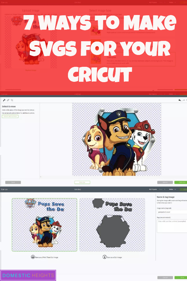cricut beginners tutorial, make free svg, paw patrol example, newbie how to