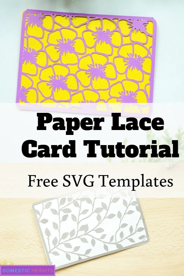 cricut card paper lace tutorial with free svg cut file templates