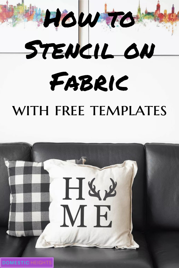 how to stencil on fabric, diy home decor project idea, modern farmhouse decorating idea