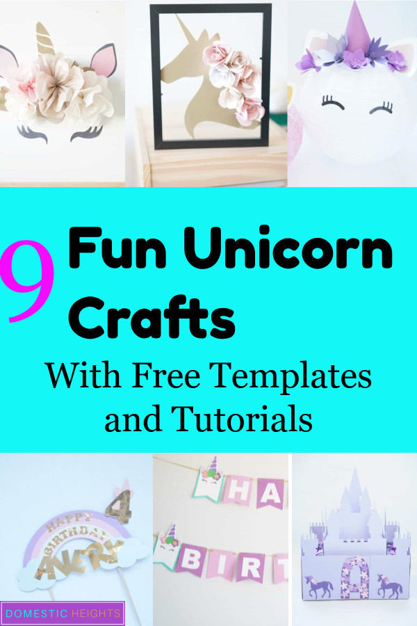 unicorn kids crafts, diy unicorn decor ideas