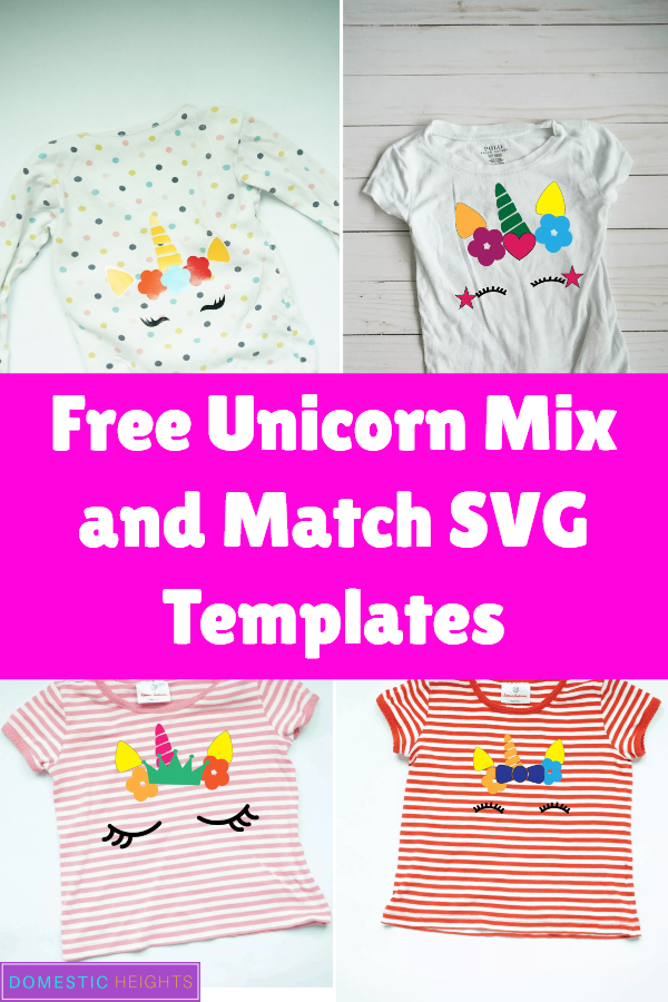 free unicorn face svg with eye lashes, horn and more, great cricut iron on project idea