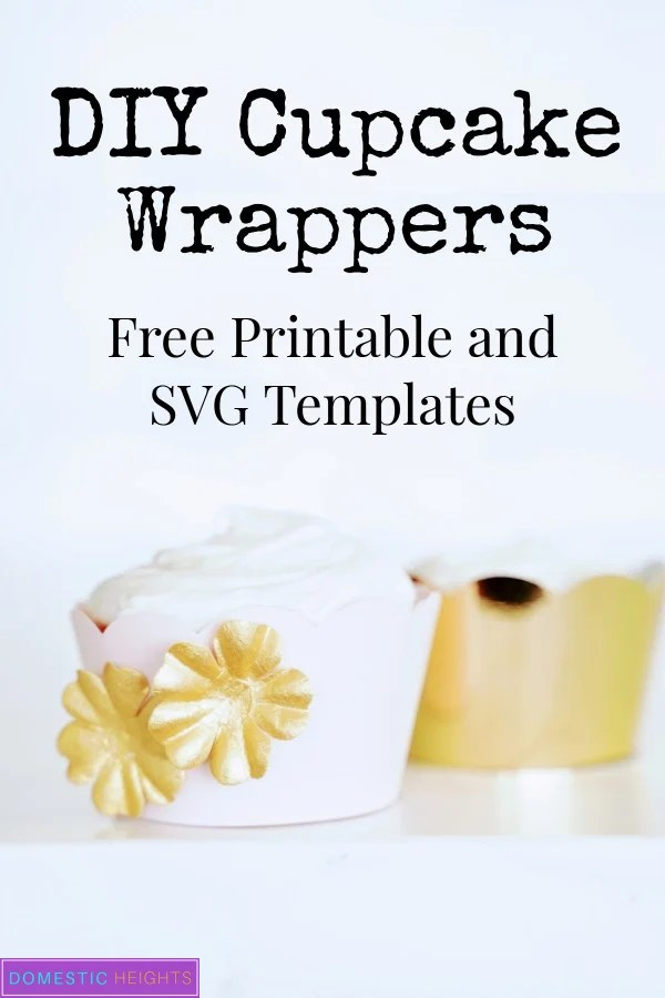 DIY cupcake wrapper template
