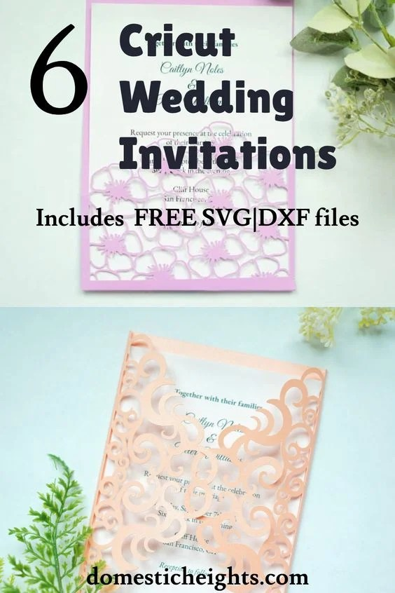 free cricut wedding invitation svg cut files templates