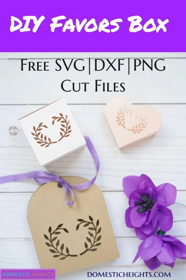 free printable favor boxes, favor box template, cricut party favors