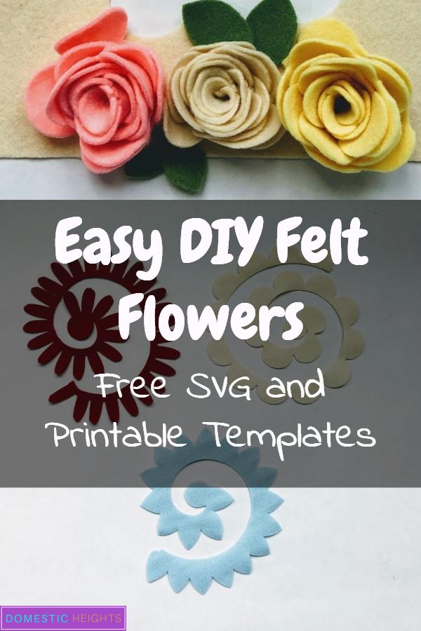 felt flower template svg