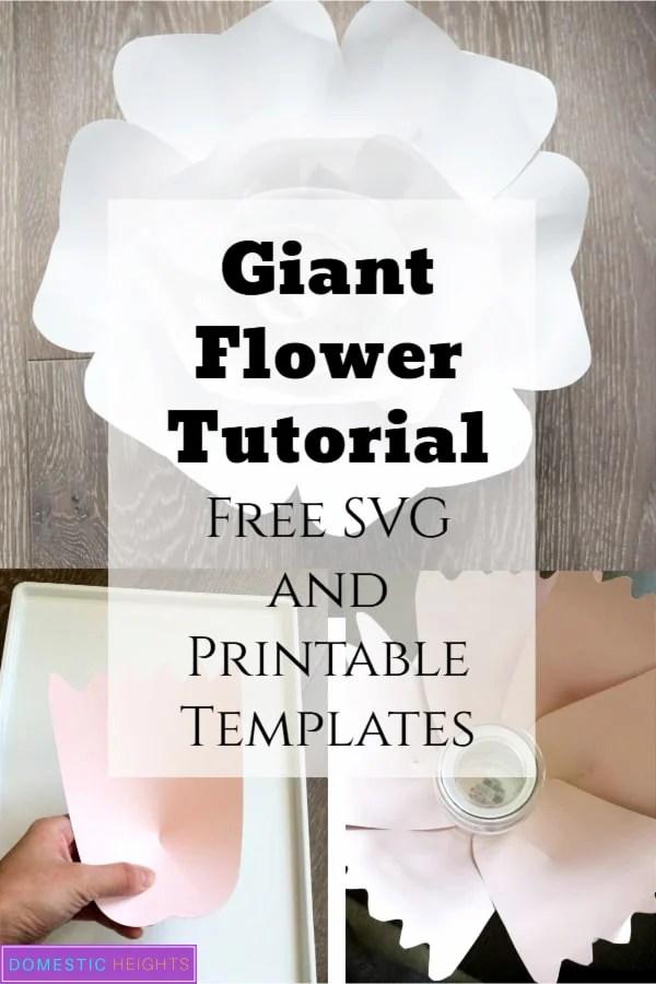 cricut giant paper flower