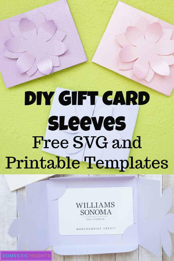 diy gift card holder template