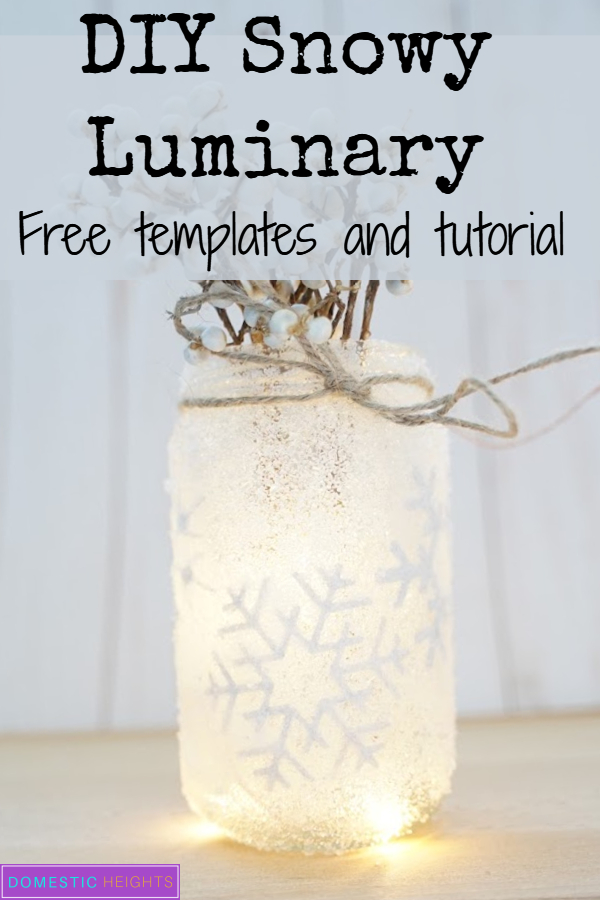 epsom salt mason jar, epsom salt luminaries,