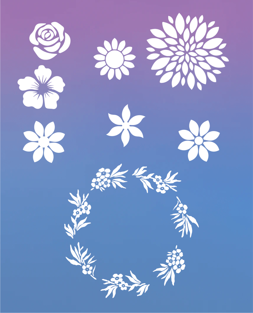 Free Printable Flower Stencil Designs Domestic Heights