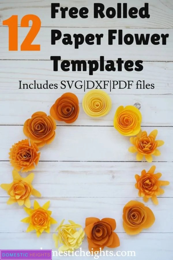 DIY cricut rolled flower svg free template and tutorial