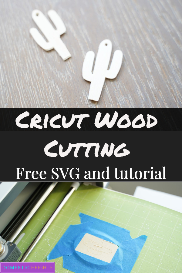 cutting wood with the Cricut, cricut wood earring svg and tutorial