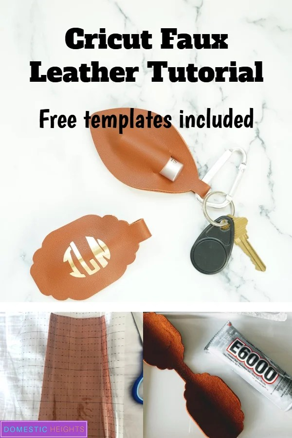 faux leather chapstick holder template