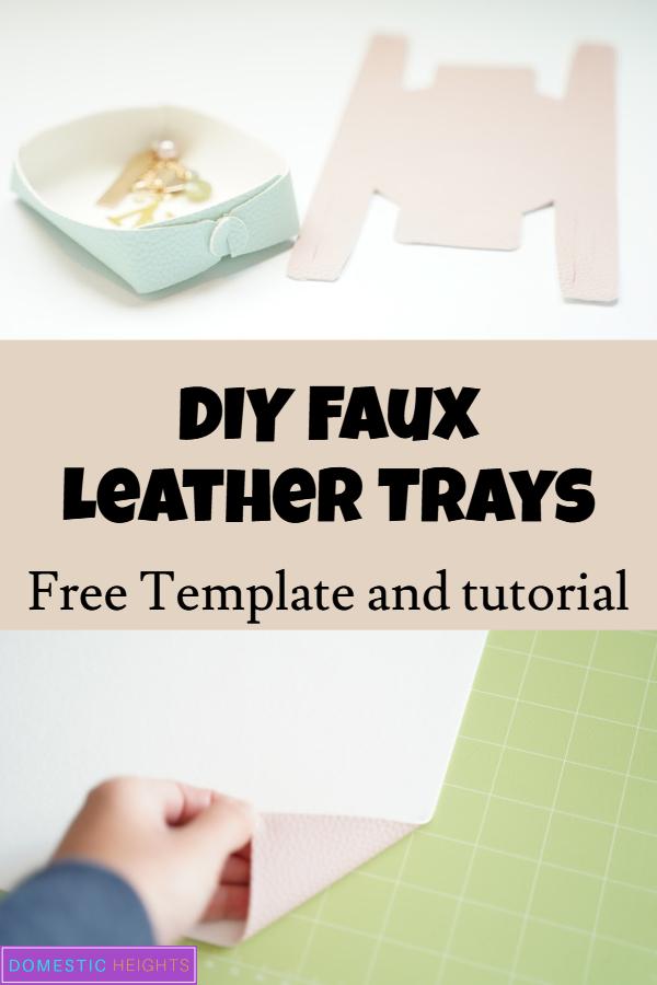 DIY leather tray