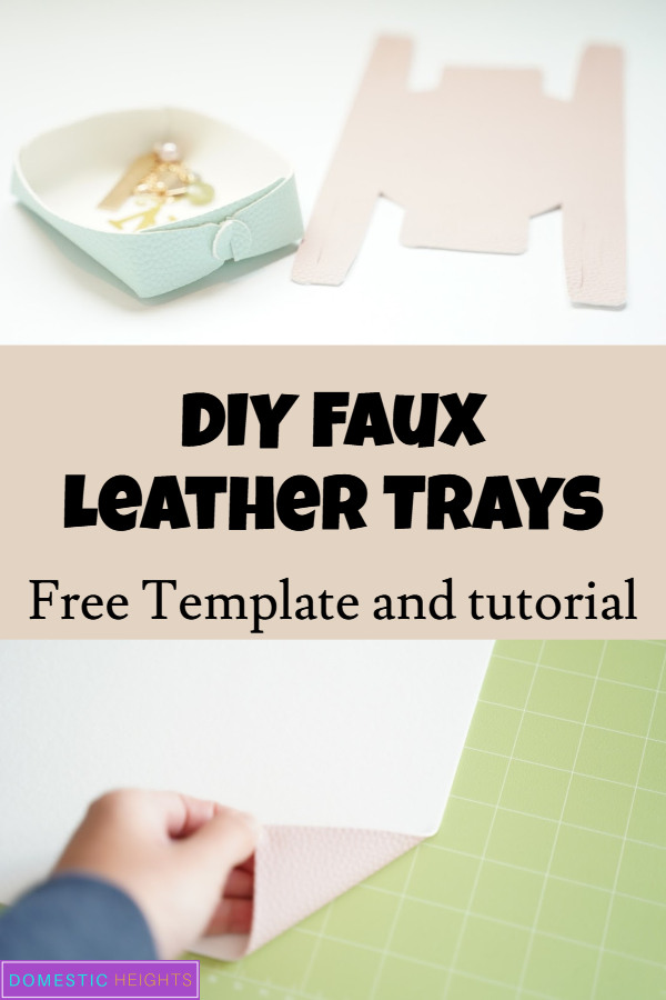 DIY leather tray