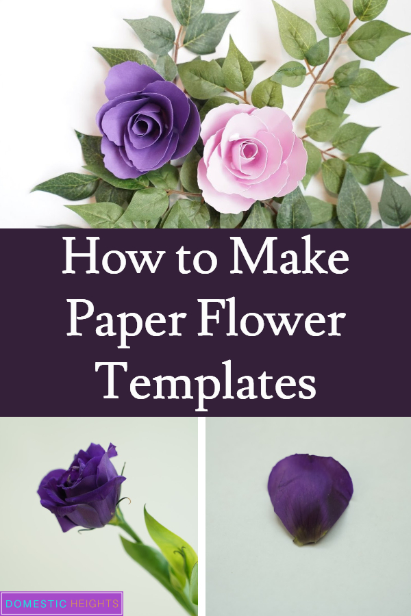 How to make paper flower templates