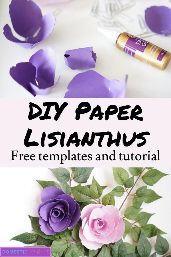 paper flower template ideas
