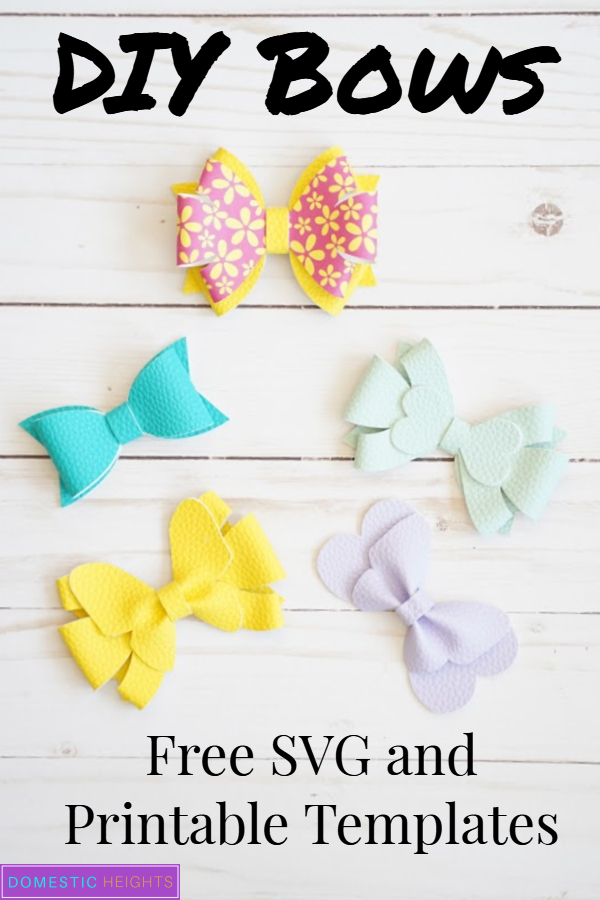 make leather hair bows