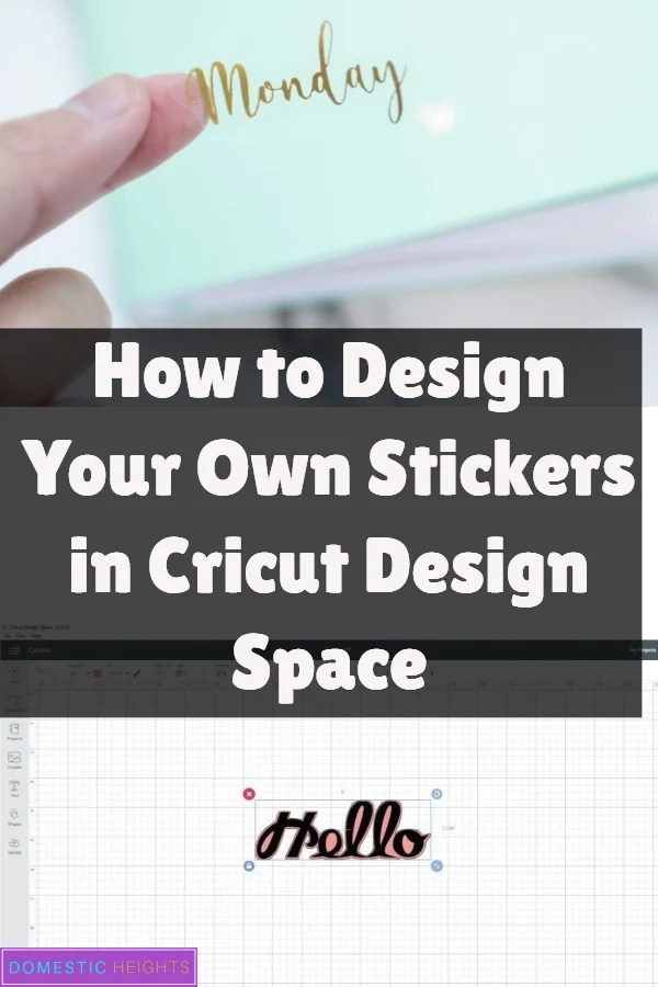 How to make stickers with the cricut