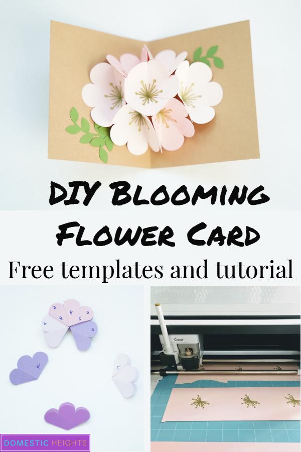 blooming flower popup card