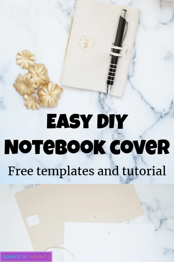 easy cricut leather journal how to